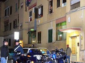 carabinieri notte in quartiere (adnkronos)