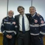 Al centro il commissario Cri F.Rocca