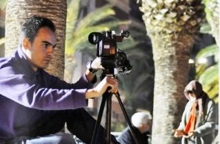 Il regista Stefano Simone al lavoro (St)
