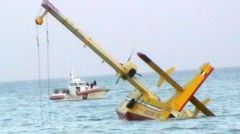 incidente Canadair Protezione Civile