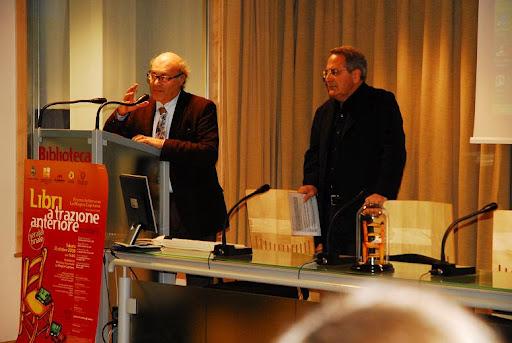 Franco Mercurio, a sinistra, con Michele Trecca, a destra