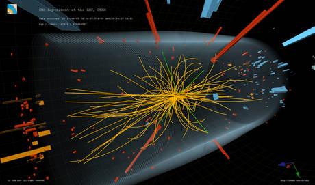 DA MARABOTTO -  Gli esperimenti ATLAS e CMS hanno presentato oggi lo stato attuale della ricerca del bosone di Higgs. (foto particella di Dio - Ansa)