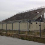 La gradinata dell'abbandonato Campo Scaloria (st)