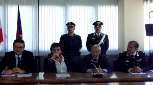 Romanzo Criminale 2, un momento di una passata conferenza stampa in Procura a Foggia (statoquotidiano@)