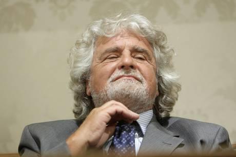 Beppe Grillo in una foto del 10 luglio 2013  ANSA/GIUSEPPE LAMI
