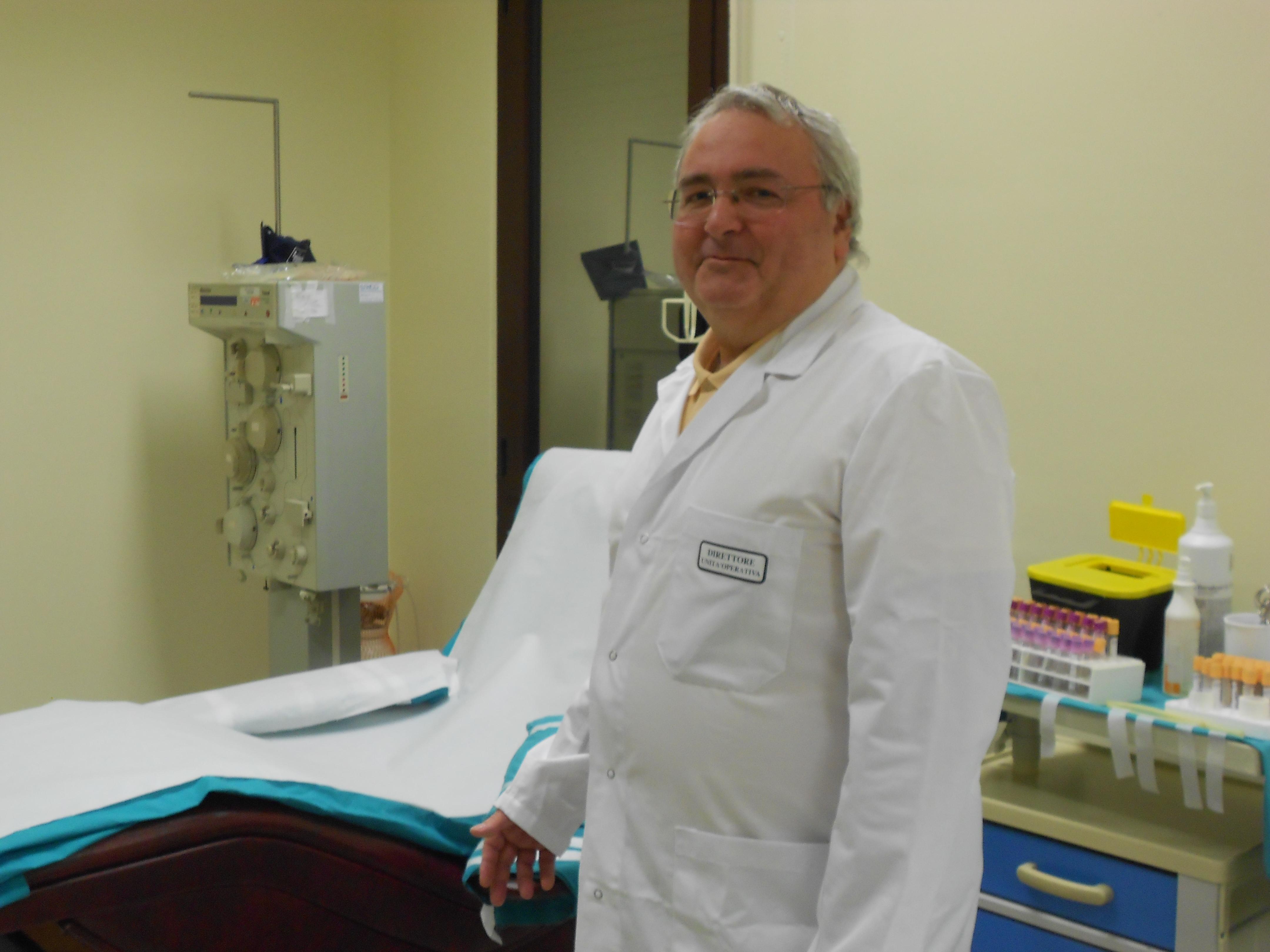 Il dottor Gaetano Granatiero, Sezione Trasfusionale di Manfredonia (Ph:Stato2013@)