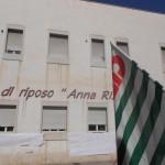 Passata protesta fuori Casa di riposto Anna Rizzi di Manfredonia (archivio)