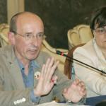 Conferenza sul ghetto di Rignano, assessore Minervini con il Prefetto (maizzi)