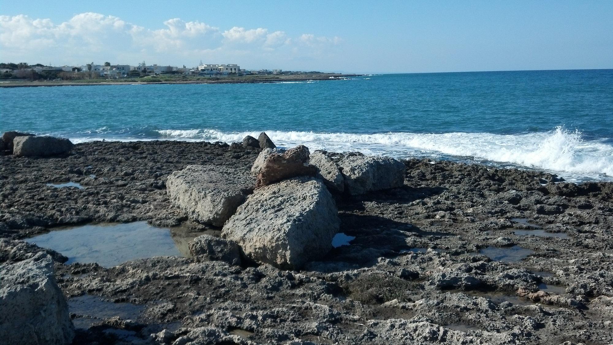 Depositi di mareggiata e di tsunami a Torre Santa Sabina