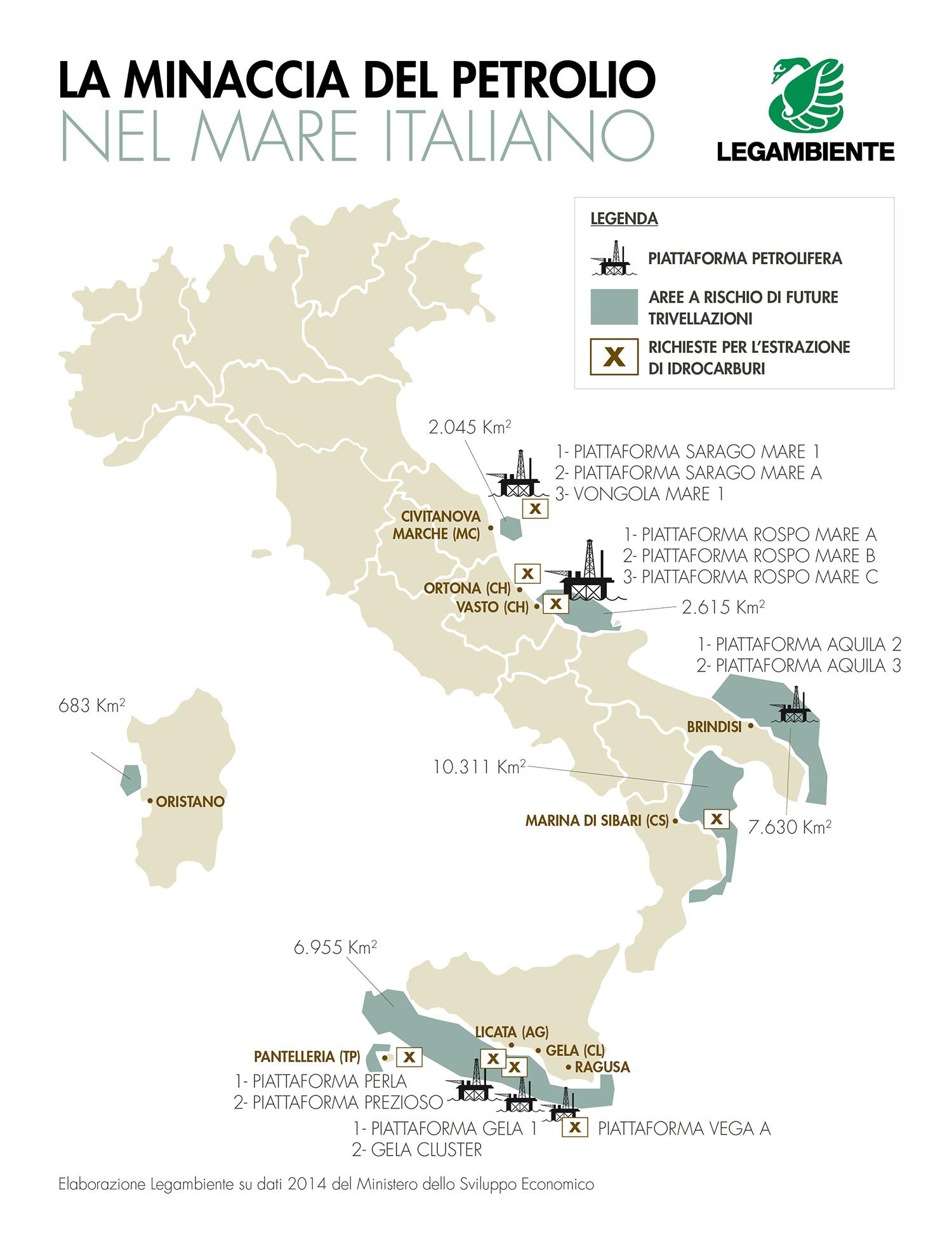 Mappa dossier petrolio