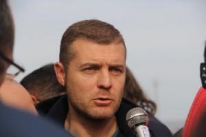 Il segretario generale della Fiom Cgil di Foggia Ciro Di Gioia (ph: Antonio Troiano)