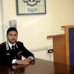 Il Comandante del Comando Compagnia dei carabinieri di Manfredonia Capitano Andrea Miggiano (ph: MAIZZI - archivio)