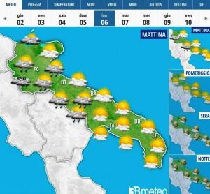 Meteo Puglia, lunedì 6 aprile 2015 (ph: 3bmeteo)