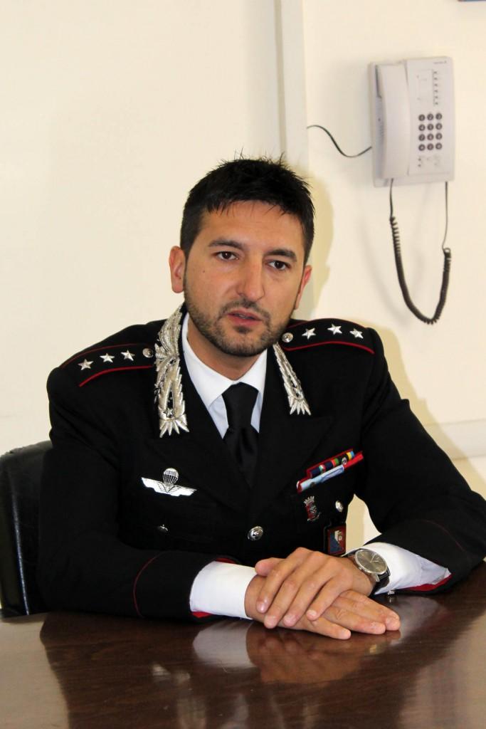 Comandante della Compagnia dei carabinieri di Manfredonia Cap. Andrea Miggiano (ph: MAIZZI)