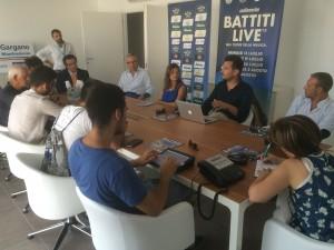 Una fase della conferenza stampa di stamani (BLV)