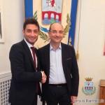 L'Au dell'Ase F.De Feudis con il sindaco di Manfredonia A.Riccardi (SQ)