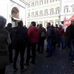 Un momento della manifestazione a Roma (ST)
