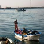 Preparazione di reti da posta nel porto