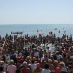 Rievocazione sciabica a Manfredonia-Spiaggia libera