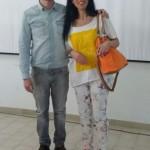 Giuseppe Catozzella con la Prof.ssa Maria Mondelli
