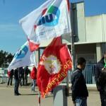 Protesta lavoratori ALENIA4