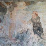 34. - Interno Eremo San Nicola-resti di affreschi -Santa Crocifissione con religiosi oranti