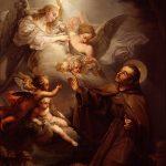 Apparizione dell'Eucarestia a San Pasquale Baylon- Bernardo Lopez-Museo de Belles arts-Valencia