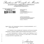 PRESIDENZA DEL CONSIGLIO A