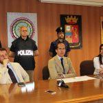 Un momento della conferenza stampa in Questura a Foggia (ph vincenzo maizzi)