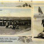 Cartolina d'epoca-Stabilimenti Balneari di Manfredonia-Archivio F. Rinaldi