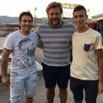 Andrea Lo Cicero con Francesco Caputo e Alex Barra