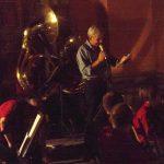 28 luglio 2012-Amatrice-Piazza Cacciatori del Tevere-Franco Rinaldi presenta il concerto della Ba