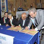 COPERTINA-29 luglio 2012- Amatrice- Chiesa di S.Francesco-Cerimonia di rinnovo del gemellaggio