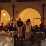 Festa Patronale 2016-Chiostro Municipio. Il solista di clarinetto della Banda-G.Piantoni-dopo la grande performance serale con il M° Susanna Pescetti