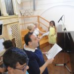 Festa Patronale 2016-Coristi della Cattedrale nella cantoria dell'antico organo