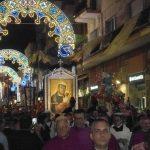 Festa Patronale 2016-Il Sacro Quadro della Madonna in processione in corso Manfredi