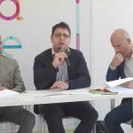 Da sx Il vicepresidente Longo, il consigliere regionale N.Cera, l'avvocato Cosimo Titta (ST)