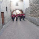 Luglio 2012- Il complesso bandistico di Manfredonia in una via di Amatrice