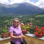 Luglio 2012-La signora Grieco Maria Rosa sul terrazzino dell'Hotel Roma