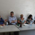 ph antonio troiano - Un momento della conferenza stampa di stamani, Manfredonia 14.09.2016