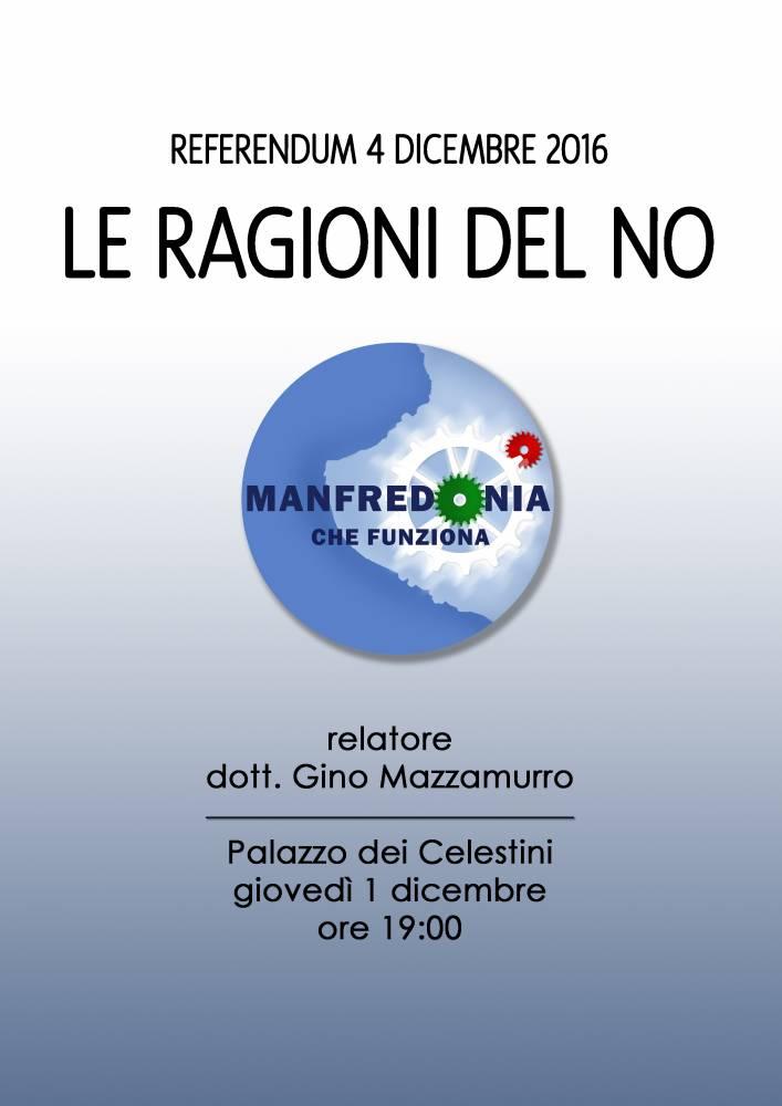 """MANFREDONIA NUOVA """"LE RAGIONI DEL NO"""""""