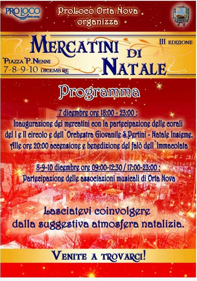 Orta Nova, Calendario natalizio: Flashmob, concerti e teatro LOCANDINA