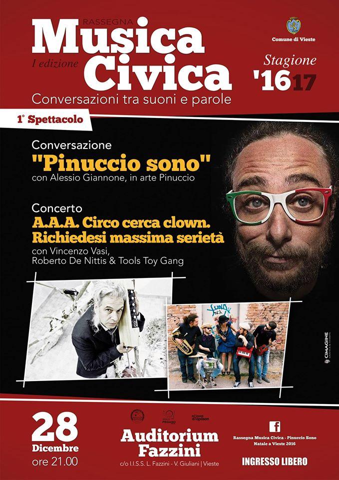 """""""Pinuccio sono"""" Alessio Giannone a Vieste con Vincenzo Vasi Roberto De Nittis & Tools Toy Gang"""