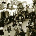 Carnevale 1959-Carro -Geremia e Panciovilla- in corso Manfredi