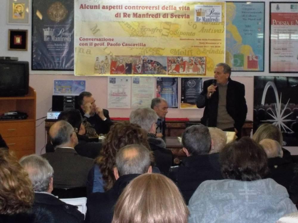 Manfredonia, Cascavilla relaziona sugli aspetti controversi di Manfredi Re di Svevia La nascita della nuova città
