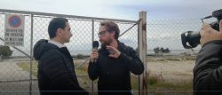 Un momento dell'intervista a Stato Quotidiano in zona ASI - Monte Sant'Angelo (07.04.2017)