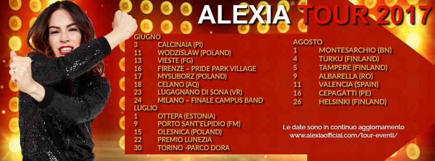 Alexia il 13 giugno a Vieste In carriera ha venduto oltre 6 milioni di dischi, ottenuto 10 singoli top-ten