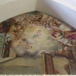 Chiesa-di-S.Francesco-dAssisi-di-Manfredonia-Apparizione-del-Bambin-Gesù-a-S.Antonio-da-Padona-Opera-di-Aronne-del-Vecchio-pittore-e-ceramista-sipontino