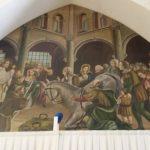 Chiesa di S.Francesco d'Assisi di Manfredonia-Il miracolo della mula -dipinto di Aronne del Vecchio