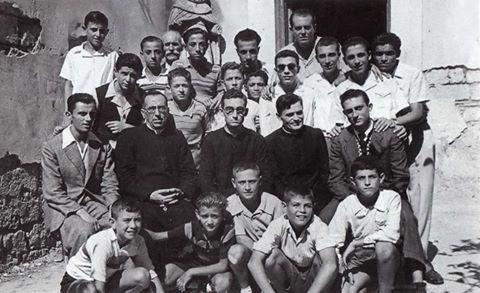 1946 - DON ANTONIO DI LAURO CON DON ANTONIO PASQUALI E IL SALESIANO DON FULVIO COLITTI E I CANTORI DELLA STELLA MARIS. Memorie dei miei 60 anni di sacerdozio. Don A. Di Lauro